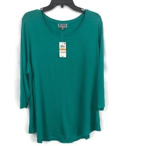 JM COLLECTION TEAL TOP 3X